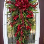 новогоднее оформление двери дома