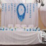 синее свадебное панно